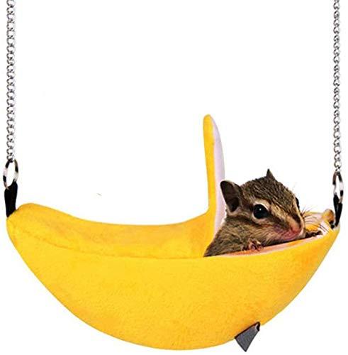 ハムスター モモンガ ハンモック 小動物用 ゆらゆら バナナ型 ブランコ 可愛い ペットベッド あったか ハウス 寒さ対策 冬用