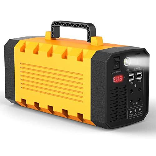 JIXIN Generador Solar Portátil 500W 288WH UPS Estación De Energía Batería De Emergencia Fuente De Alimentación De Respaldo Cargada por Toma De Corriente Solar/CA/Coche para CPAP Laptop Home Camping