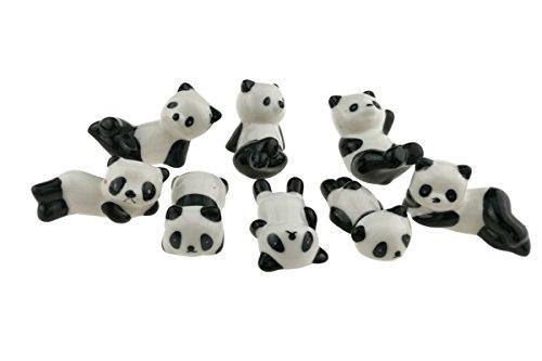 Winterworm 8PCS/Lot super cute panda in ceramica bianco e nero bacchette stand resto cremagliera porcellana cucchiaio forchetta coltello Titolare rastrelliera per la decorazione domestica