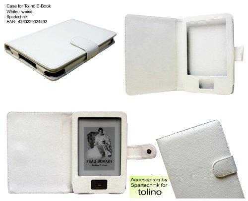 Spartechnik Tasche für Tolino Shine Tolino Shine 2 HD von Bertelsmann Weltbild Thalia Telekom Hugendubel - bestes Case für Tolino Shine E-Book Reader - White - Weiss