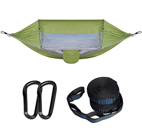 Decorlife Portable Camping Hammock with Removable Mosquito Net, Sturdy Nylon Windproof Travel...