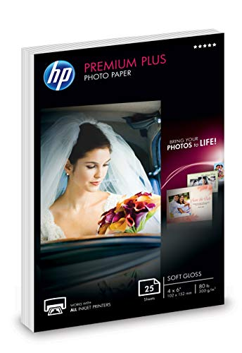 HP Premium Plus Photo Paper | Soft Gloss | 4x6 | 25 Sheets