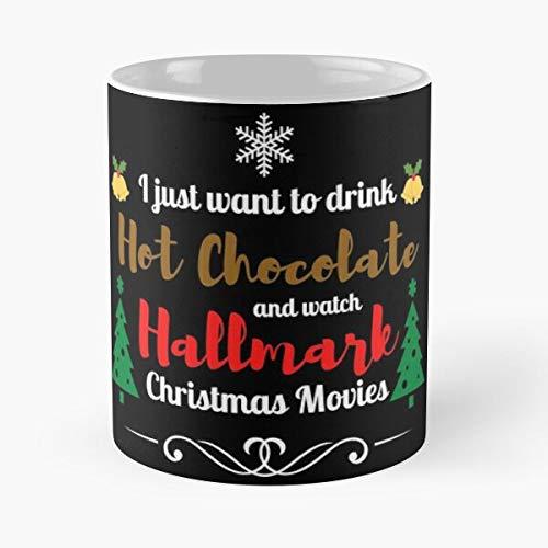 Desconocido Christmas Hallmark Merry Holidays Happy Sweater Ugly Movies Taza de café con Leche 11 oz