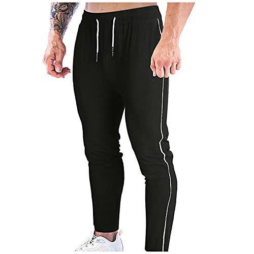Binggong Pantalones de hombre para el tiempo libre, ajustados con goma elástica, para correr, hacer yoga, para el tiempo libre, para hacer deporte, para correr, hacer deporte o hacer ejercicio