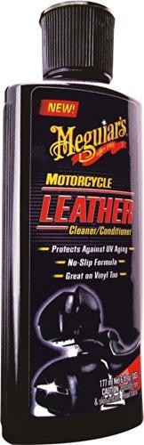 Meguiars Leather Cleaner/Conditioner - Producto para Limpiar y Proteger el Cuero para Motos (177 ml)