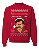 Funny Ron Swanson Parks and Rec Christmas I Don't Care...