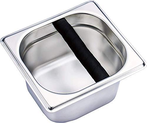 Abklopfbehälter Coffee Knock Box, Edelstahl Espresso Knock Box Container für Kaffeesatz Barista Zubehör zum Kaffeesatz sammeln & recyceln