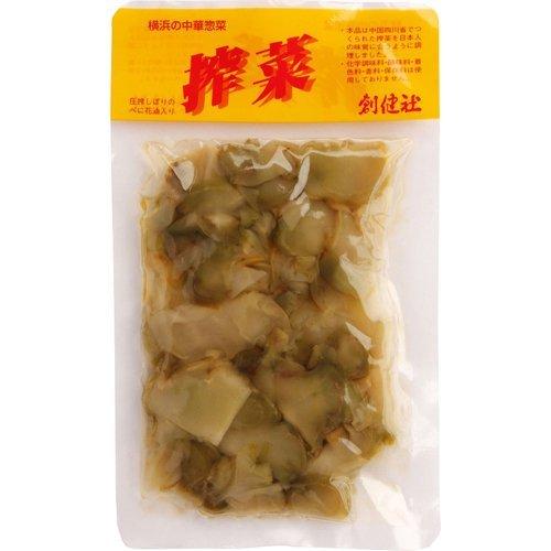 創健社 べに花一番 搾菜(ザーサイ) 150g