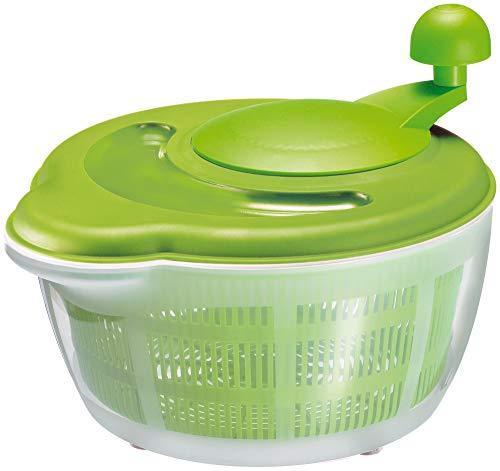 Westmark Essoreuse à Salade, Capacité : 5 litres, ø 26 cm, Plastique, sans BPA, Fortuna, Couleur : Transparent/Vert, 2432226A