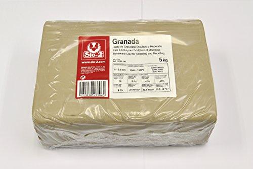 Sio-2 - Pasta de Gres para Escultura y Modelado 13320100 5 Kg, color Blanco