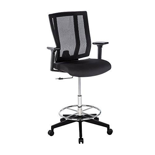 Vari Drafting Chair - Office Chair with Multiple Adjustment Points - Ergonomic Desk Chair with Footrest Ring and Pivoting Backrest for Maximum Lumbar Support - No Tool Assembly