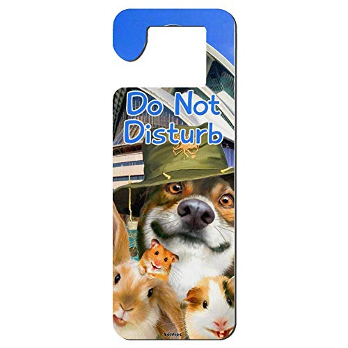 Mr kennys& Lucky 7 Sydney Opera House Australia Dog Rabbit Guinea Pig Do Not Disturb Durable Wooden Door Knob Hanger Sign for Home,Hotel,Office, Clinic, Therapy