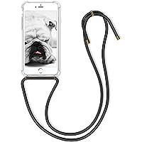 kwmobile Funda con Cuerda Compatible con Apple iPhone 6 Plus / 6S Plus - Carcasa Transparente de TPU con Cuerda para Colgar en el Cuello