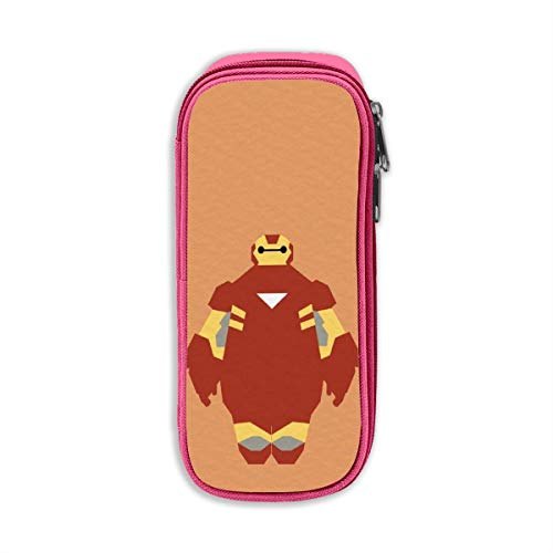MPJTJGWZ Pencil Case, High Capacity Stylish Iron Man Baymax Print Pens Pouch Bag Cosmetic Bag