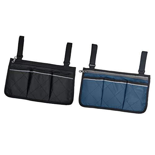 Baoblaze 2 Stück Rollstuhl Seitentasche Beutel Organizer Handytasche