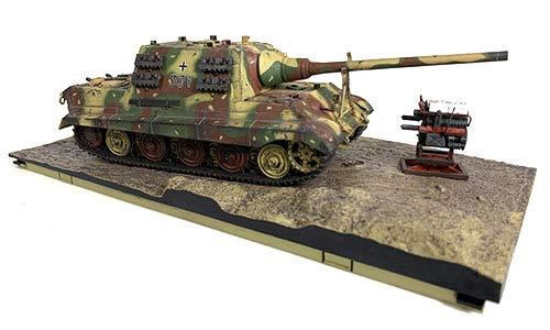 Forces Of Valor 801024A Deutscher Schwerpanzer-Zerstörer Sd.Kfz.186 Jagdtiger FGST.NR.305020 Schwere Panzerjäger Deutschland März 1945 Henschel-Federung Typ 1/32 Maßstab