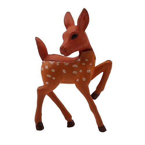 ZSDN 1Pcs Miniature Reindeer Figurine Christmas Fairy Garden Family Deer Figure Mini Resin Reindeer Statue Desktop Ornament, Style 2