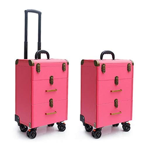 Boîte À Outils De Coiffure Haut De Gamme Nail Technician Trolley Case Cosmétiques Beauty Trolley Box Travel Makeup Case Storage Box,A