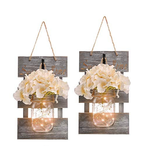 HOMKO Mason Jar Wall Decor with ...