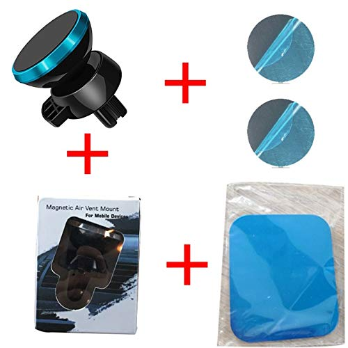 WSCDEH 360 Degree Magnetic Car Phone Holder Air Vent Mount Magnet Car Holder For Your Mobile Phone Stand Suporte Blue