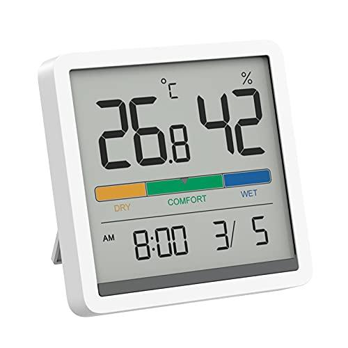 MIIIW - Termometro da igrometro interno, Termometro Digitale Ambiente con sensore digitale LCD da 3,34 pollici per serre in casa e ufficio ad,Alta precisione(bianca)