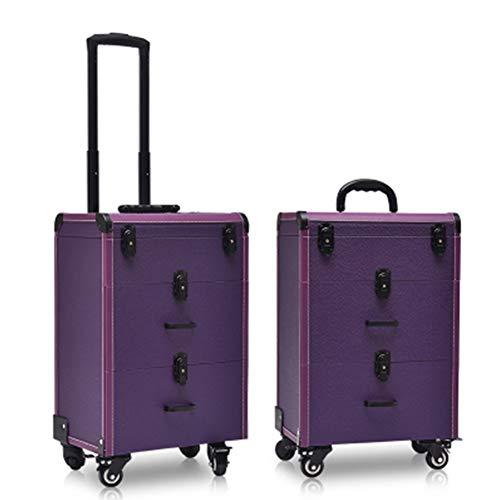 Boîte À Outils De Coiffure De Mode Nail Technician Trolley Case Cosmétiques Beauty Trolley Box Travel Makeup Case Storage Box,A