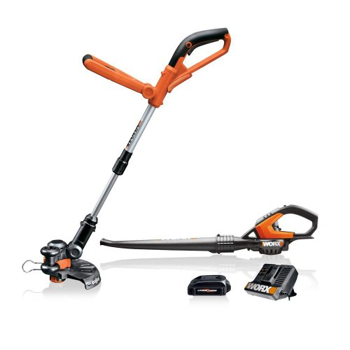 Review Of WORX 20V Grass Trimmer and Blower Combo Kit with 2 Batteries