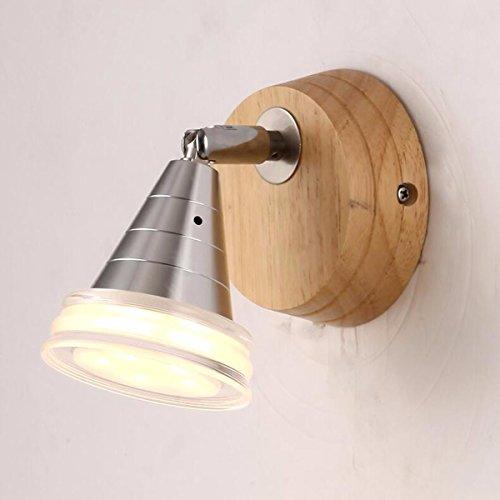 ZPSPZ Applique Murale A Brief Créatif En Bois Massif Bois Chaud Allée Porche Mur Mur Lampe Balcon Chambre Lampe De Chevet