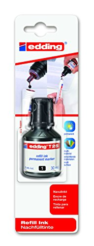 edding Nachfülltinte edding T 25, f.edding Perm.m,30 ml,schwarz