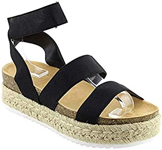 Nature Breeze Women's Casual Summer/Spring Open Toe Espadrille Wedge Sandals
