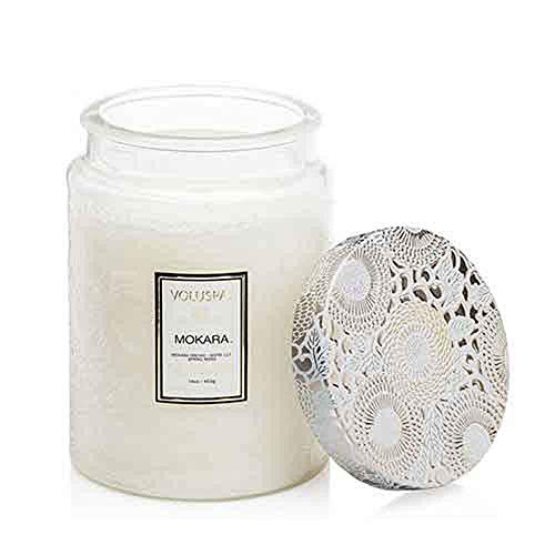 Voluspa Mokara Japonica Limited Edition Large Embossed Glass Jar Scented Candle