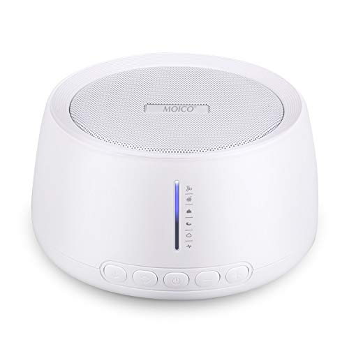 White Noise Machine, MOICO Sound Machines for Sleeping with 30 HiFi Soothing Sounds, 20 Levels of Volume, Timer & Memory Function, Sleep Machines for Baby Adults Travel Office Privacy (White)
