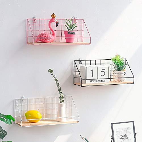Wandrek met rooster, eenvoudig strijkijzer, creatief, voor woonkamer, slaapkamer, wandbehang, ophangbed, decoratieve hanger 14x10.5x34cm Wit.