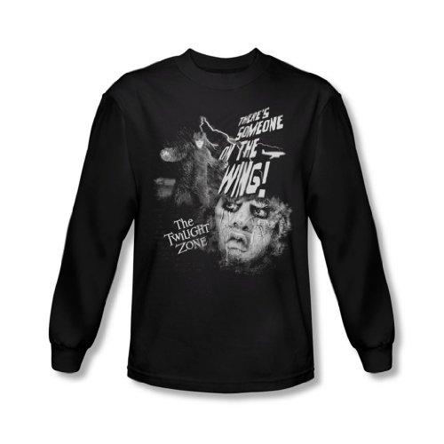 Twilight Zone - Herren jemand auf dem Flügel Langarm-Shirt In Schwarz, X-Large, Black