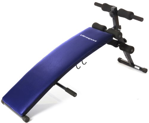 Ultrasport Sit Up Bank – Bauchtrainer/Platzsparend zusammenklappbar