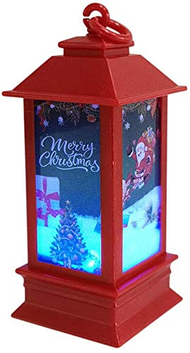 Blitzby Christmas Tabletop Lanterns Vintage Outdoor Candle Lantern Decorative with LED Light - Led Candle Light for Christmas Decoration - Decorative Home Hanging Lanterns Battery Powered