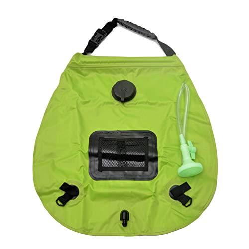 Campingdusche Solar 20L,Solardusche Camping,Solardusche Tasche,Reisedusche Outdoor Warmwasser Duschsack Solar Hellgrün 50 * 47cm