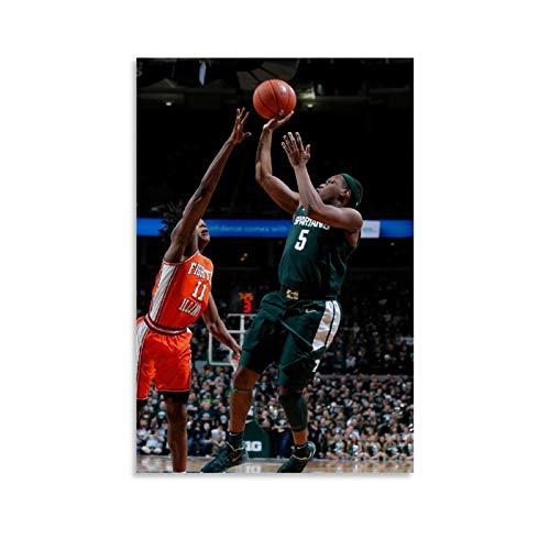 GUCII Canasta de baloncesto para hombre, cuadro decorativo, lienzo para pared, sala de estar, póster, dormitorio, 50 x 75 cm
