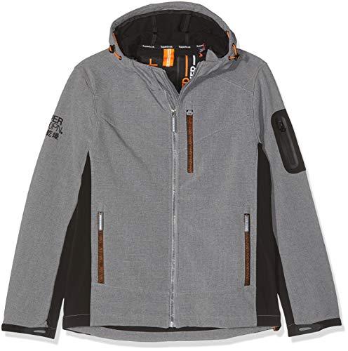 Superdry Herren Hooded Paralex Windtrekker Jacke, Grau (Grey Marl 07Q), XX-Large