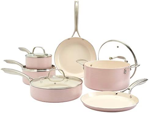 Top 10 Best cookware set pink Reviews