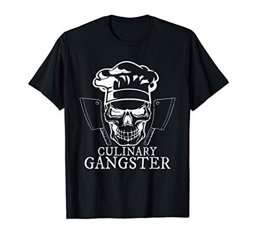 Chef cuchillo cráneo Cocinero Cocinar Regalo Camiseta
