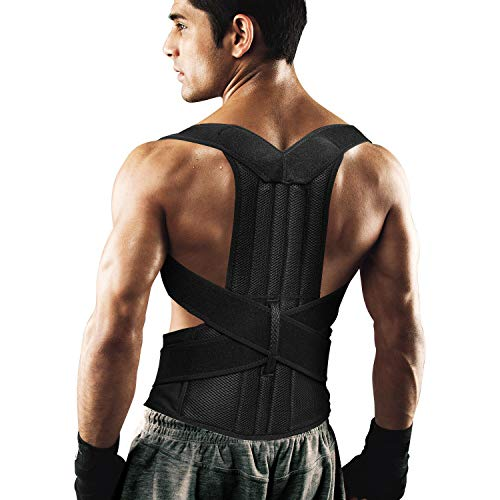 Back Brace Posture Corrector for Women and Men Back Lumbar Support Shoulder Posture Support for Improve Posture Provide and Back Pain Relief (35.5'-39.5')
