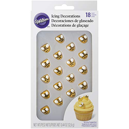 Wilton Bumblebee Icing Decorations, Yellow