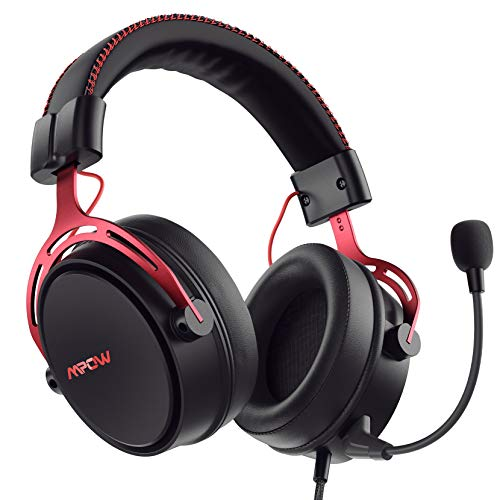 Mpow Air SE Gaming-Headset für Xbox One PS4 PS5 PC Switch - Gaming-Kopfhörer mit festem Mikrofon, Over-Ear Gaming Headsets mit 3D Surround Sound, Inline-Steuerung und Hochwertige Qualität
