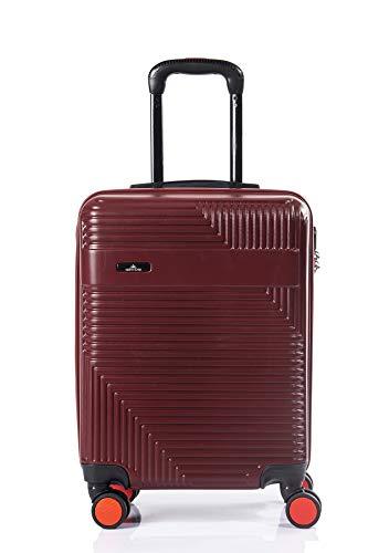 North CASE ABS 8 Wheels CCS Suitcase Luggage Trolley HARDCASE Lightweight Bag Burgundy-Black L