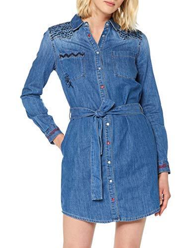Desigual Dress Always Vestido, Azul (Denim Medium Wash 5053), 44 para Mujer