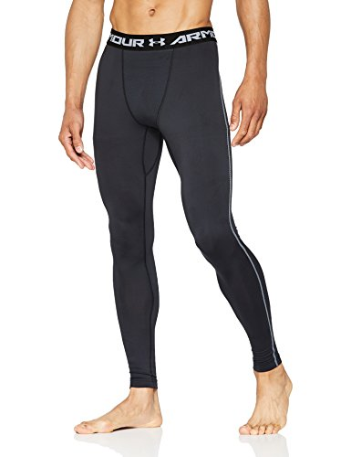 Under Armour Men's ColdGear Armour Compression Leggings, Black (001)/Charcoal, Large
