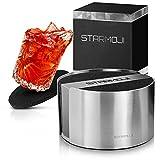 STARMOJI® Untersetzer Gläser aus Filz für einen Sauberen Tisch - 10 Filz Untersetzer für Gläser mit modernen Edelstahlbehälter Filzuntersetzer Glasuntersetzer