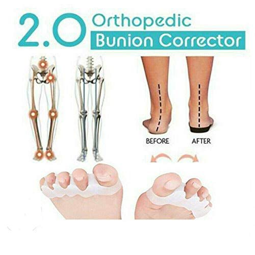 Preisvergleich Produktbild 2019 Orthopedic Bunion Corrector 2.0 Strapazierfähiger Zehentrenner für effektive Schmerzlinderung Weiß