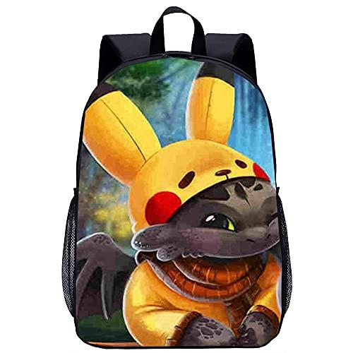 Teen fashion backpack Baby Pikachu 3D printed backpackCasual backpack boy girl teen school bag (45x30x15cm) School backpack